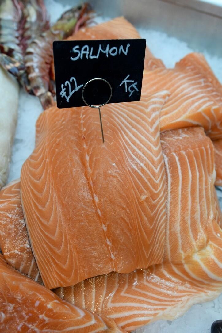 Fresh Salmon (£/100g)