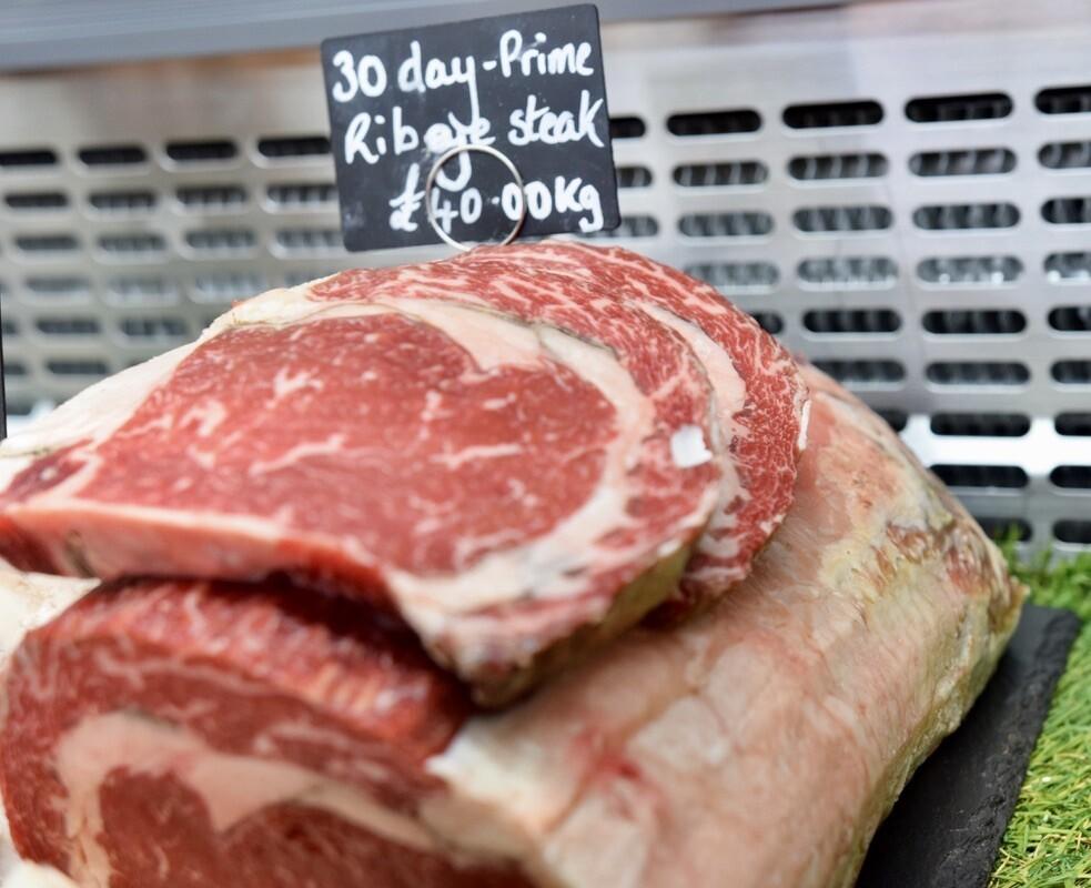 30 Day Aged Prime Ribeye Steak (£/200g)