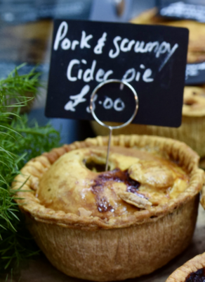 Pork and scrumpy cider pie