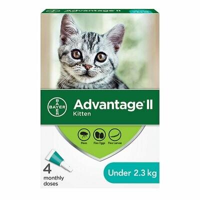 Advantage II Kitten Topical Flea Treatment <2.3kg 4pk
