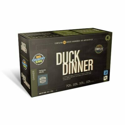 Big Country Raw Duck Dinner Carton 4lb