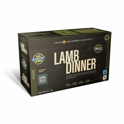 Big Country Raw Lamb Dinner Carton 4lb