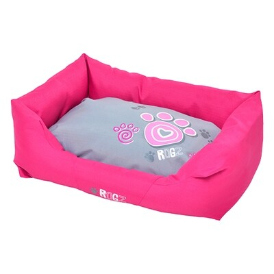 Rogz Dog Bed Spice Podz Pink Paw M 28 x 18