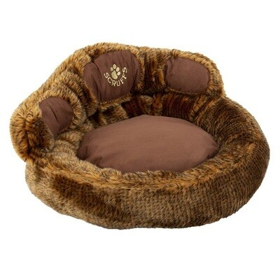 Scruffs Dog or Small Cat Bed Paw Faux Fur S 21.5 x 21.5