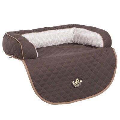 Scruffs Dog or Cat Bed Wilton Sofa Brown L 36 x 28