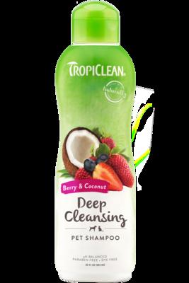 TropiClean Shampoo Berry & Coconut Deep Cleansing 592ml