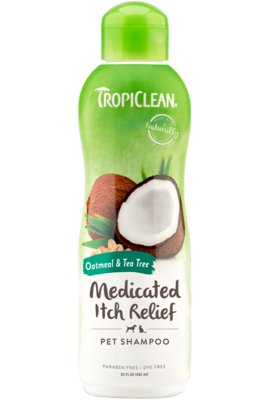 TropiClean Shampoo Oatmeal & Tea Tree Medicated Itch Relief 592ml