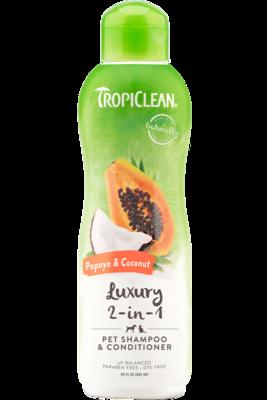 TropiClean Shampoo & Conditioner Luxury 2-in-1 Papaya Coconut 592ml