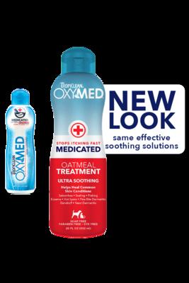 TropiClean Shampoo OxyMed Medicated Oatmeal 592ml