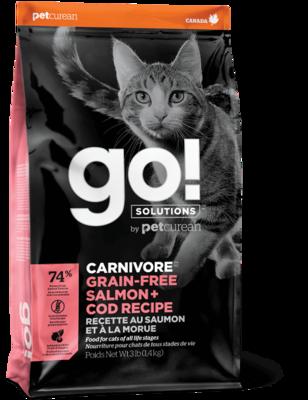 GO! Solutions Carnivore Cat Food Grain-Free Salmon & Cod