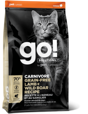 GO! Solutions Carnivore Cat Food Grain-Free Lamb & Boar 3.63kg