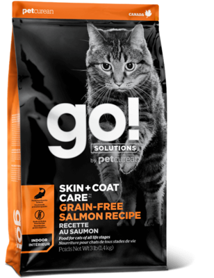 GO! Solutions Skin & Coat Cat Food Grain-Free Salmon