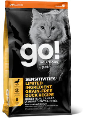 GO! Solutions Sensitivities Limited Ingredient Cat Food Grain-Free Duck 7.27kg