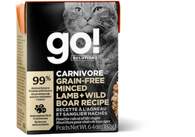 GO! Solutions Carnivore Cat Food Tetra Grain-Free Minced Lamb & Wild Boar 182g (24pk)