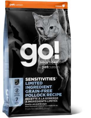 GO! Solutions Sensitivities Limited Ingredient Cat Food Grain-Free Pollock 3.63g