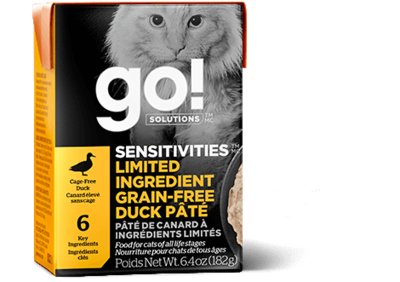GO! Solutions Sensitivities Limited Ingredient Cat Food Tetra Grain-Free Duck Pate 182g (24pk)