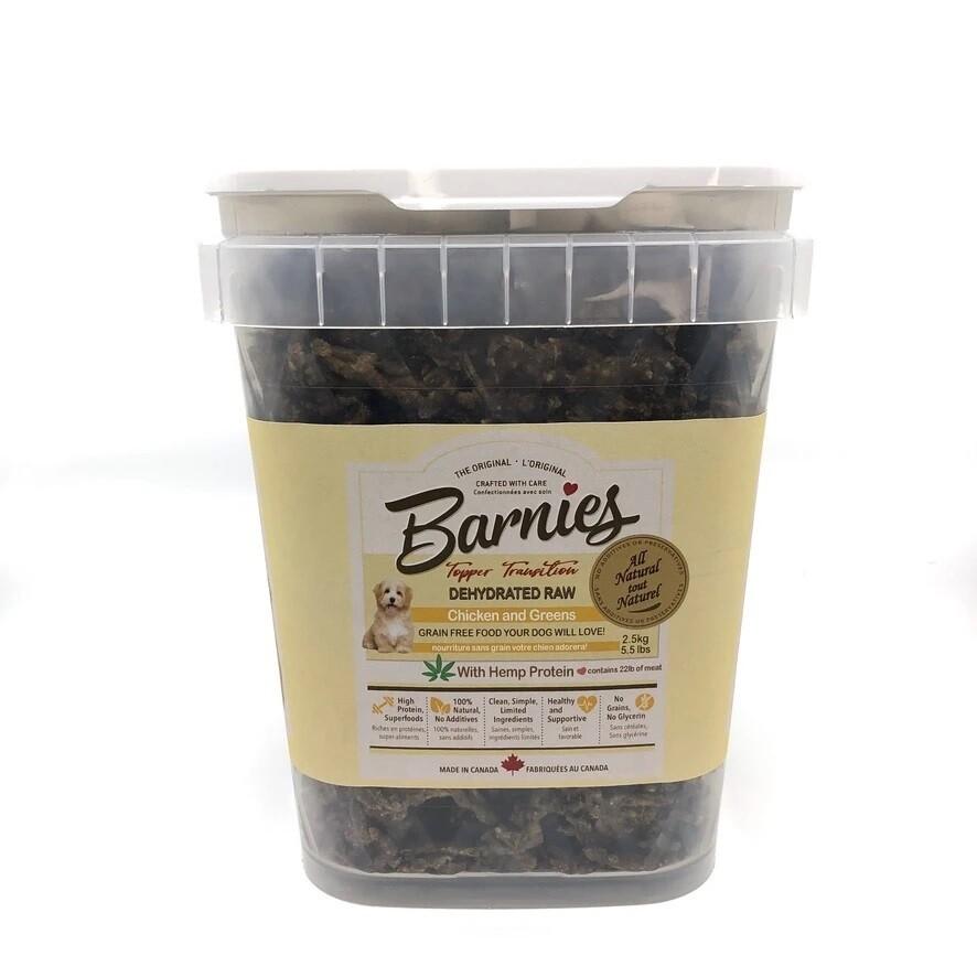 Barnies Dog Food/Topper Dehydrated Raw Chicken & Greens 2.5kg