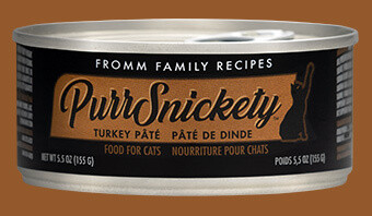 Fromm PurrSnickety Cat Food Canned Turkey Pate 155g (12pk)