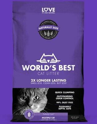 World's Best Cat Litter Original Multiple Cat Lavender Scented 3.2kg