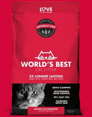 World's Best Cat Litter Multiple Cat Unscented