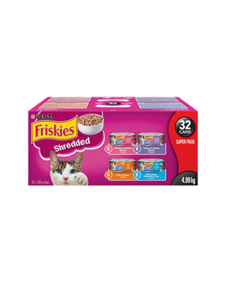 Friskies Cat Food Canned Shredded Variety Pack 156g (32pk)
