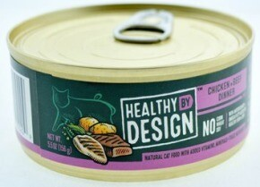 Healthy by Design Cat Food Canned Chicken & Beef Dinner Pate 156g (24pk)