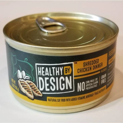 Healthy by Design Cat Food Canned Shredded Chicken Dinner 156g (24pk)