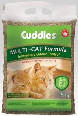 Cuddles Multi-Cat Litter 15kg