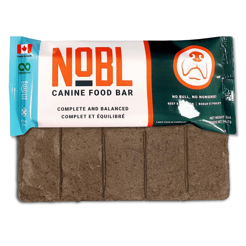 NOBL Dog Food Canine Food Bar Beef & Chicken 57g