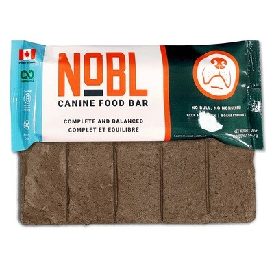 NOBL Dog Food Canine Food Bar Beef & Chicken 57g