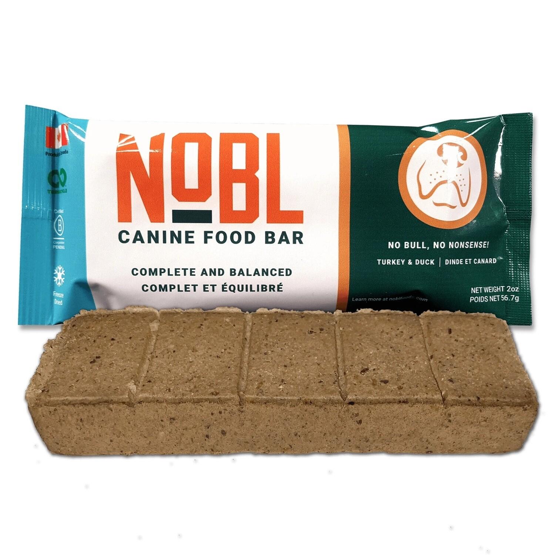 NOBL Dog Food Canine Food Bar Turkey & Duck 57g