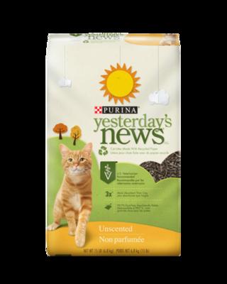 Yesterday's News Unscented Original Texture Cat Litter