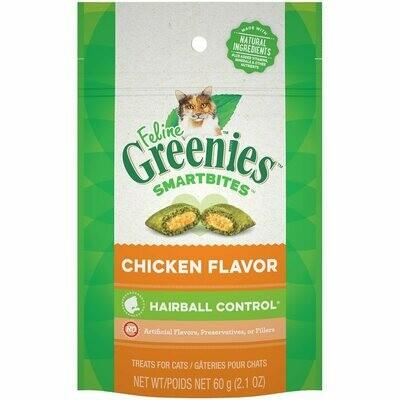 Greenies Smartbites Cat Treats Hairball Control Chicken 60g