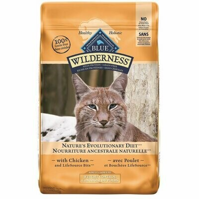 Blue Wilderness Cat Food Weight Control Adult Grain-Free Chicken