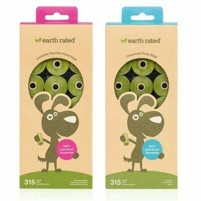Earth Rated Poop Bags 21 Refill Rolls (315 bags)