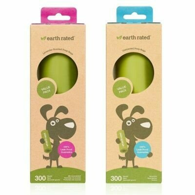 Earth Rated Poop Bags Large Single Roll (300 bags)