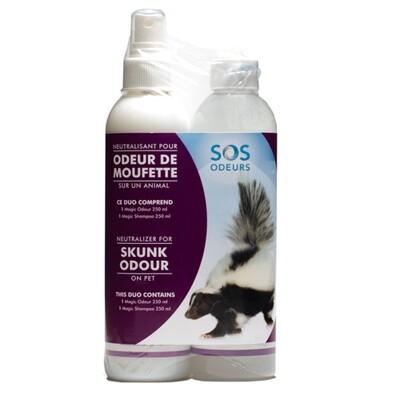 SOS Odours Magic Duo Skunk Odour Neutralizer 2 x 250ml