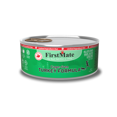 FirstMate Cat Food Canned Cage Free Turkey 156g (24pk)