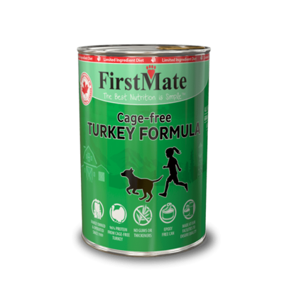 FirstMate Dog Food Canned Cage Free Turkey 345g (12pk)