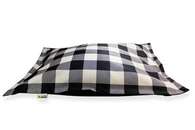 BeOneBreed Cloud Pillow Bed Black Plaid