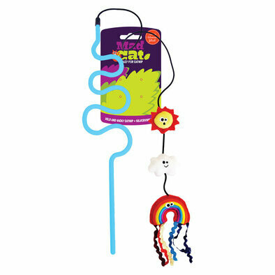 Cosmic Pet Mad Cat Cat Toy Wacky Wand Chasin' Rainbows
