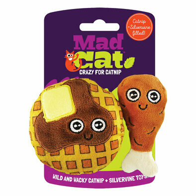 Cosmic Pet Mad Cat Cat Toy Chicken n' Waffles 2pk