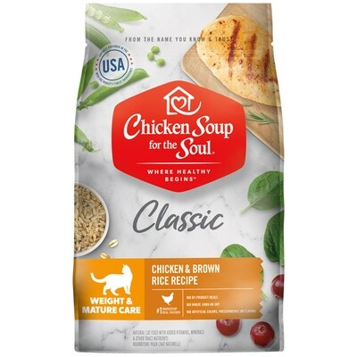 Chicken Soup for the Soul Cat Food Weight & Mature Care 6.8kg