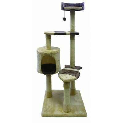 Burgham Scratch Post 3 Level Fish Step with Condo 49