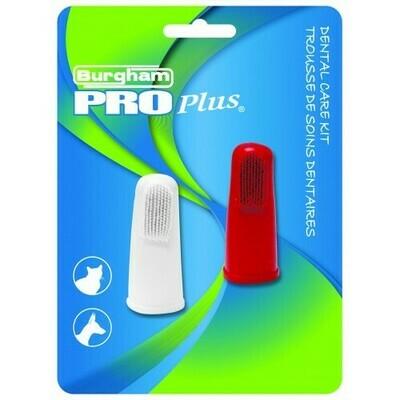 Burgham Pro Plus Dental Finger Toothbrush 2pk