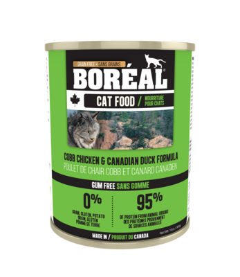 Boreal Cat Food Canned Cobb Chicken & Canadian Duck 369g (12pk)