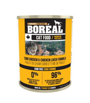 Boreal Cat Food Canned Cobb Chicken & Chicken Liver 369g (12pk)