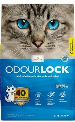 Intersand Odourlock Unscented Ultra-Clumping Multi-Cat Litter 12kg