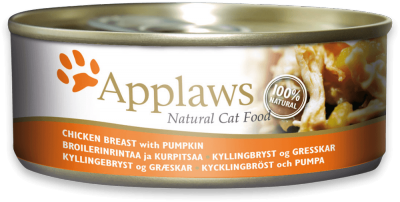Applaws Cat Food Chicken Breast with Pumpkin in Broth 156g (24pk)