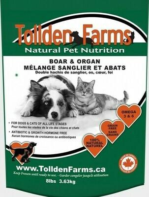 Tollden Farms Boar & Organ/Bones DIY 8lb/3.63kg